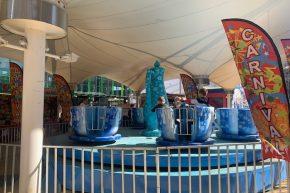 Frozen tea cups