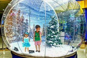 Inflatable ball snow time